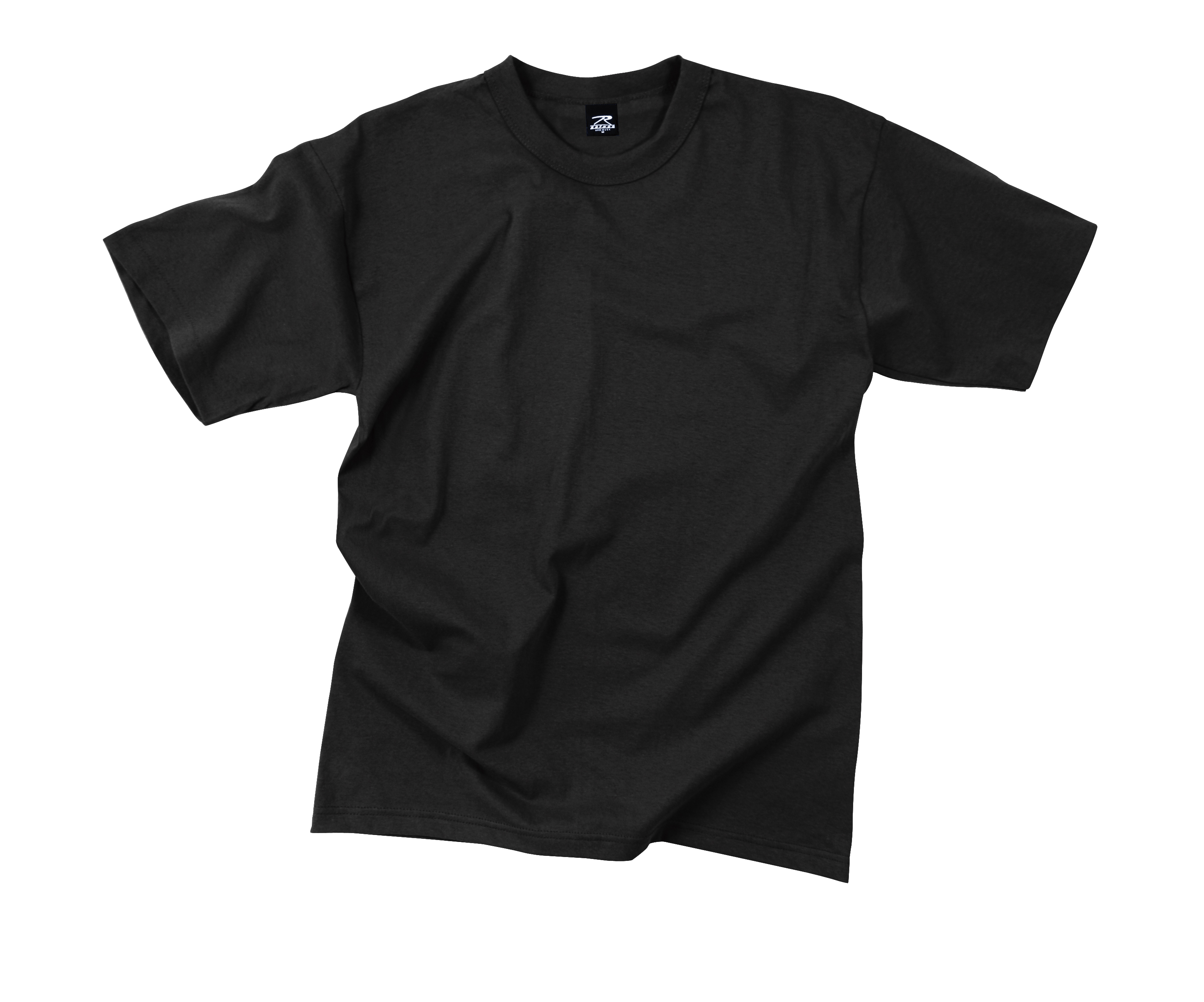 Rothco Solid Color 100% Cotton T-Shirt – Black | This and That ...